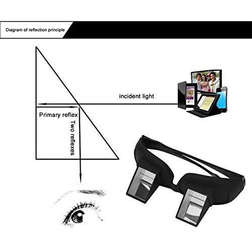 37a1115794 RoadRomao Increíble Lazy Periscope Creativo Lectura Horizontal Televisor Sentado  Gafas en la Cama Túmbate Prisma Espectáculos Las Gafas perezosas: ...