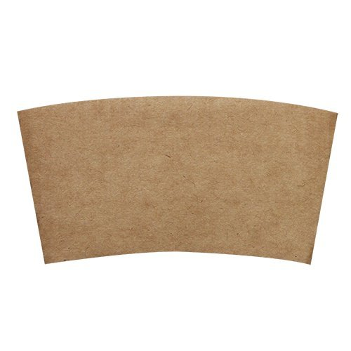 Hot Cup Sleeves (Cup Jackets) for 8oz Paper Coffee Cups, 50 Count Coffee Cup Holder Sleeves Traditional Jackets (Natural Kraft/Brown) (Paper Coffee Cups 8 Oz Lids compare prices)