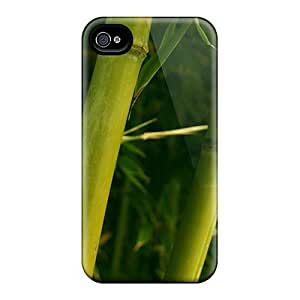Fashion Hard Case For Iphone 4/4s- Green Bamboo Defender Case Cover