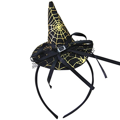 Hot Sale New Fashion Headband Halloween Party Witch Cap Girls Women Hat Spider Party Props Headbands Accessories by Neartime (C) (Halloween Inspired Names)