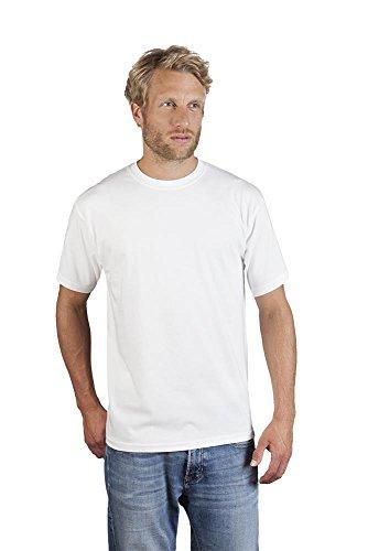 Herren Premium T-Shirt, 4XL, Weiß, Weiß, 4XL