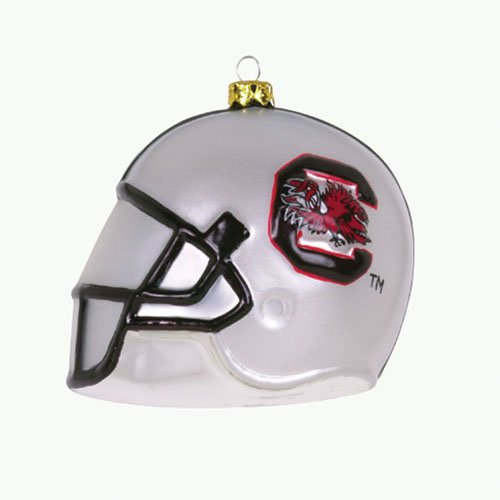 Pack of 2 NCAA South Carolina Gamecocks Blown Glass Helmet Christmas Ornaments (Ncaa Helmet Tree Ornament)
