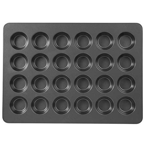Wilton Non-Stick Mega Muffin and Cupcake Baking Pan, 24-Cup (Best Commercial Oven For Baking Cupcakes)