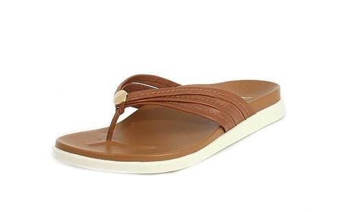d7ac113d21fe06 Vionic Women s Palm Catalina Toe-Post Sandal - Ladies Flip-Flop Concealed  Orthotic Support