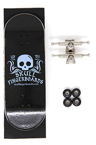 Skull Fingerboards Classic Wedgwood 34mm Complete Professional Wooden  Fingerboard Mini Skateboard 5 PLY with CNC Bearing Wheels