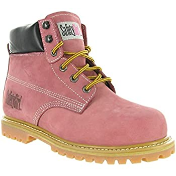 431c0cad6db Safety Girl Steel Toe Work Boots - Light Pink: Amazon.com ...