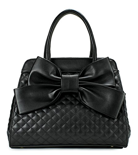 Scarleton Quilted Satchel H104801N - Black