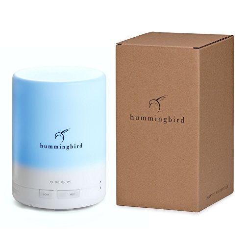 hummingbird-300ml-essential-oil-diffuser-8-hours-cool-mist-7-color-led-4-timer-settings-free-quick-d