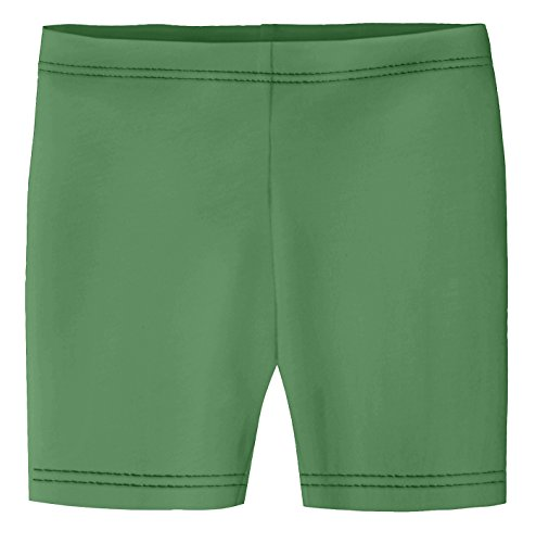 City Threads Baby Girls Underwear Bike Shorts in All Cotton Perfect for SPD and Sensitive Skin Sports Dance School Uniform, Elf 9/12m (Sports Coverage Green)