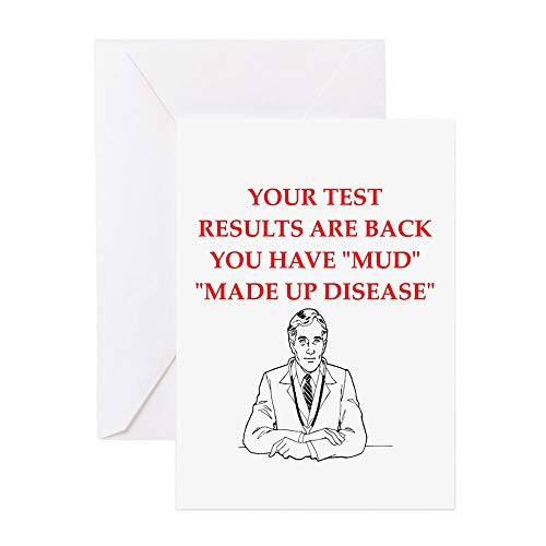 CafePress Hypochondria Greeting Cards Greeting Card, Note Card, Birthday Card, Blank Inside Matte