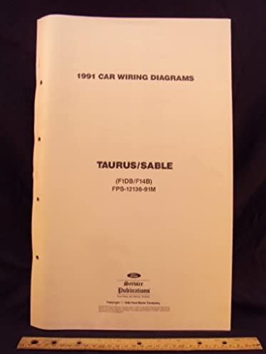 1991 ford taurus & mercury sable electrical wiring diagrams 2001 ford taurus brake fluid 1991 ford taurus & mercury sable electrical wiring diagrams schematics ford motor company amazon com books