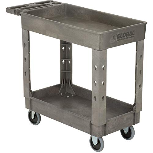 Plastic 2 Shelf Tray Service & Utility Cart, 38