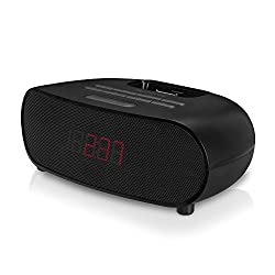 Memorex Dual Alarm Clock Radio With A LED Display And A Apple Dock 30 pin Black