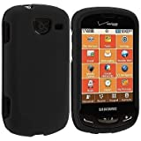 Black Rubberized Hard Snap On Case Cover For Samsung Brightside U380 - NEW