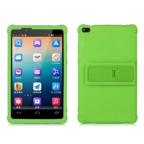 Lenovo TAB 4 8 Kids Case - Light Weight Shock Proof Soft Silicone Back Cover for Lenovo Tab 4 8 Inch?TB-8504F or TB-8504X?HD Tablet 2017 Release, (NOT for TB-8304F or Plus Model TB-8704) (Green)