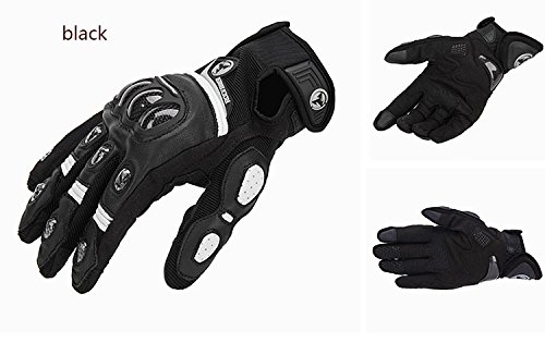 ETbotu Men Carbon Fiber Riding Gloves Anti-Slip Cross-Country Racing Gloves Motorcycle Military Tactical Combat Training Army Shooting Outdoor Gloves