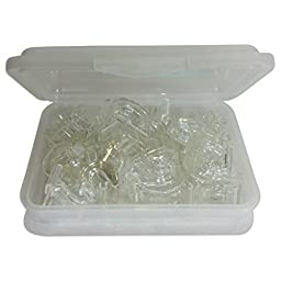 SharpTank Clear Hinged Ceiling Hook (20 Pack) Designed for use in Classrooms and Office Settings - Holds up to 10 lbs