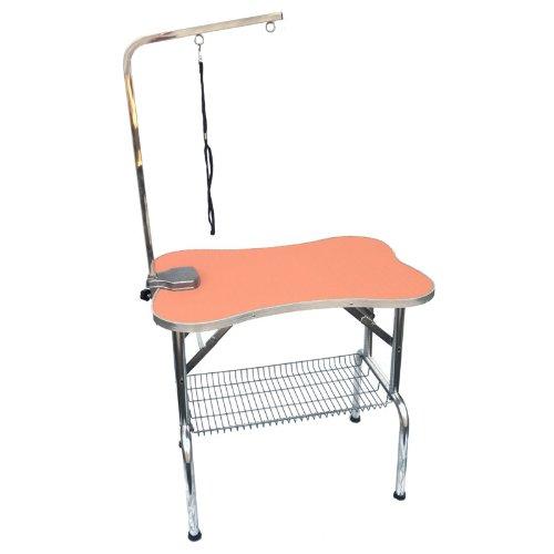 トリミングテーブル Bee 303 アーム、棚付 オレンジ B00CWTPF16