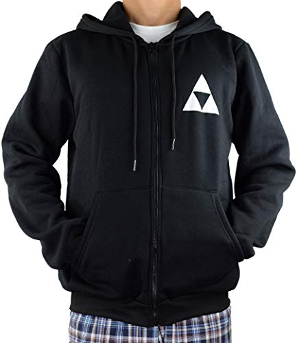 Yuesha Aiyin Unisex The Legend of Zelda Hooded Sweatshirt Zip Hoodie (3XL (Size Runs Small)) -
