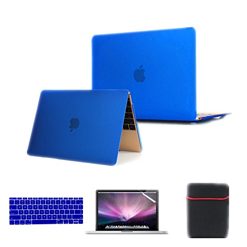 Se7enline [4 in 1 Bundle] Macbook 12'' Laptop Computer [2015 Release Model A1534] Case Cover Multi-colors Soft-Touch Plastic Hard Case...