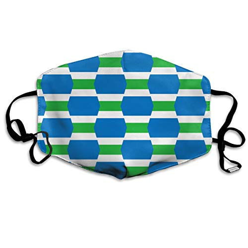 - Sierra Leone Flag Combination Mouth Mask Unisex Anti-dust Cotton Face Mask for Men and Women White
