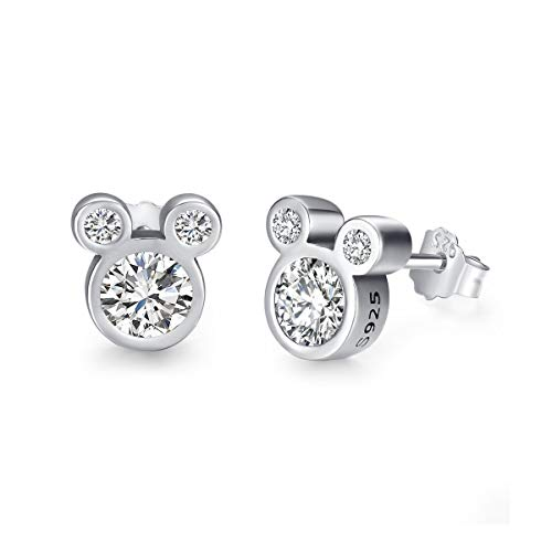 Twenty Plus Cute Dazzling Mouse Shaped Stud Earrings for Women and Girls Fashion Jewelry1-Pair
