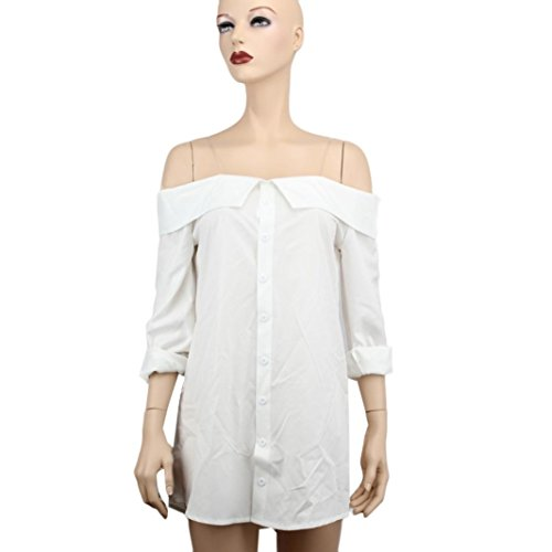 Rcool Damen Sommer Boho Mini Kleid trägerlos Casual Frauenstrand Party  Shirt Kleider