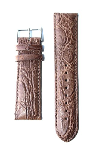18mm Made in Italy Toscana Handmade Matte Tan Genuine Crocodile Watchband with S/S Buckle