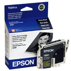 T034120 EPSON BR STYLUS PHT 2200, 1-SD YLD PHOTO BLACK INK (Epson T034120 Black Inkjet)