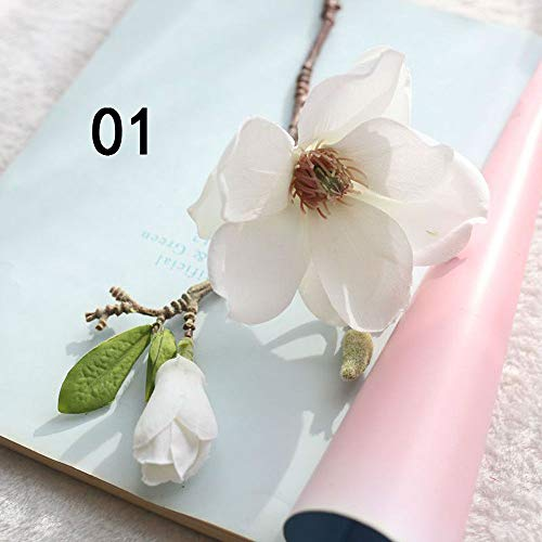 Hot Sale!DEESEE(TM)Artificial Fake Flowers Leaf Magnolia Floral Wedding Bouquet Party Home Decor (A) -