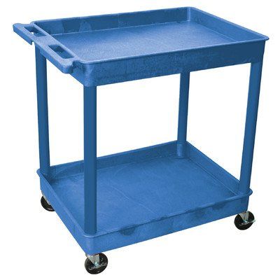 LUXOR BUTC11BU 2-Tier Tub Cart, Blue by Luxor