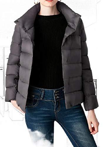 Corto Piumini Grigio Collare Del Femminile Pendolari Basamento Stile Scuro Puffer Xinheo Caldo Magro Spessore wUCq5pR