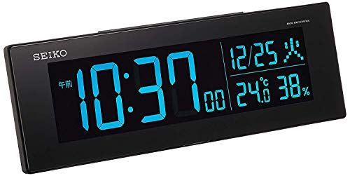 세이코 시계 (Seiko Clock) 탁상 시계 01 : 블랙 본체 크기 : 7.3 × 22.2 × 4.4cm 전파 디지털 교류 식 컬러 액정 시리즈 C3  BC406K / 02 : 화이트 DL305W