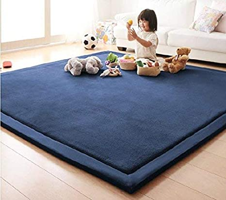 Exercise Mat-Cushy- Soft /& Thick Hypoallergenic and Children Play Mat Children Play Mat Handmade weaving Plush Foam Play Crawling mat for Baby Yoga Mat Toddler Non-toxic Reversible