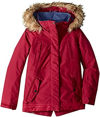 Roxy Little Girls' Tribe Snow Jacket, Beet Red, 8/S