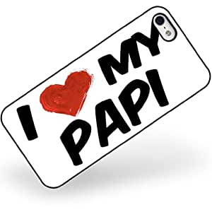 Rubber Case for iphone 5 5s I Love my Papi - Neonblond