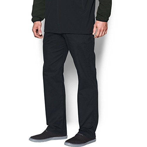 (Under Armour Men's Performance Chino – Straight Leg, Black /Black, 38/32)