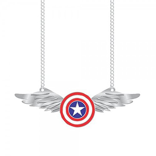 Necklace - Marvel - Captain America w/Wing New Toys Licensed fj2zq3mvl