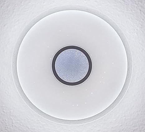 – Lámpara de techo LED con cielo estrellado, ajuste de color (de hasta cálido blanco frío), regulable, RADIO de mando a distancia: Amazon.es: Iluminación