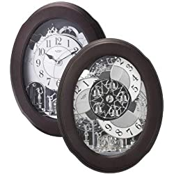 Rhythm Clocks Nostalgia Espresso Magic Motion Clock
