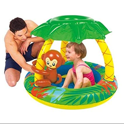 Lovely Monkey And Fruits Design Inflatable Comfortable Monkey Pool FiNeWaY Baby Toddler Inflatable Monkey Baby Pool