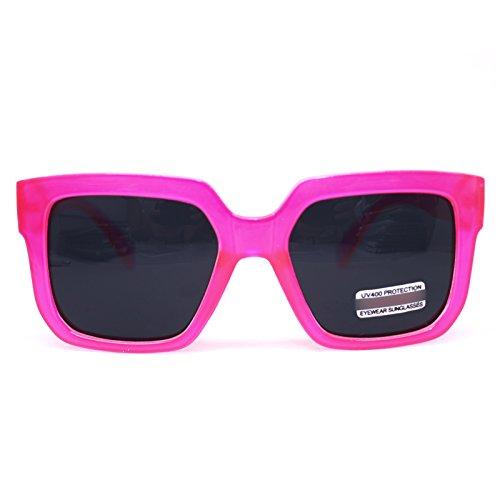Womens Pink Sunglasses Fashion Vintage Eyeglasses Large Oversized Bold Thick Frame (PINK 7385, - Shades Gazelle Sunglasses