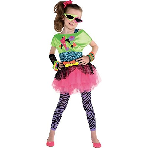 Amscan Awesome 80's Party Totally Tubular Colorful Graphic Costume (4 Piece), Multicolor, 17.5