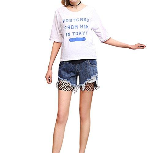 Donna Jeans Maternit Incinta Xinvision Pantaloni Pantalone Denim dIUqWBw7