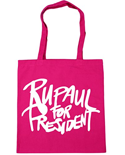 Fuchsia 10 Rupaul Beach Bag 42cm Gym litres for Shopping president HippoWarehouse x38cm Tote FSvqw7vC