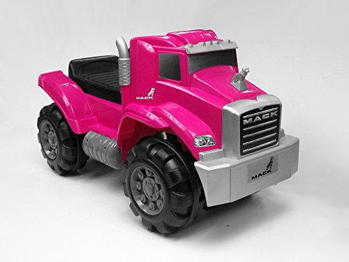 Beyond Infinity Ride On Mack Truck Foot to Floor in Kids Ride On, Pink, 26.38 x 12.6 x 15.11