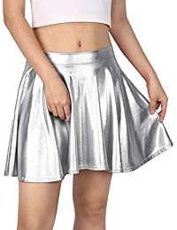 Women's Casual Fashion Flared Pleated A-Line Circle Skater Skirt