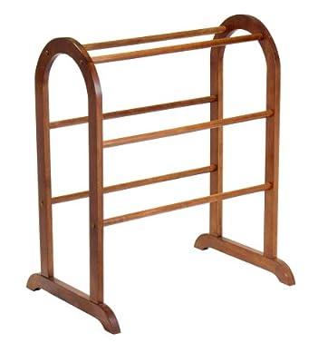 Winsome Wood Quilt Rack, Walnut