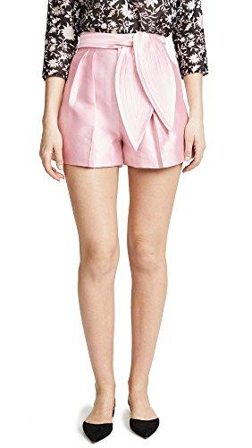 Cynthia Rowley Women's Phoebe Pleated Silk Wool Shorts