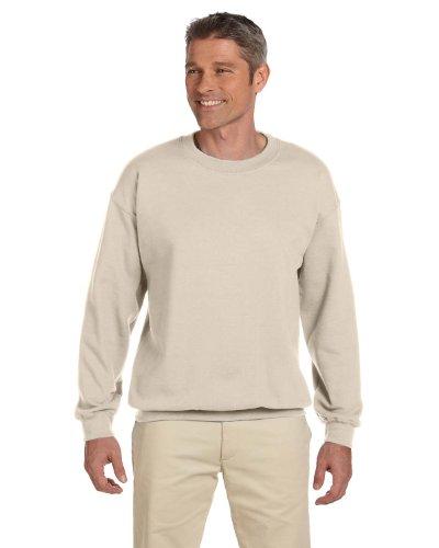 Lightweight Sweatshirt Crewneck (Gildan Men's Heavy Blend Crewneck Sweatshirt - Large - Sand)